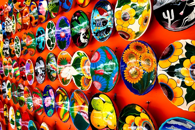 Mexican decoration plates